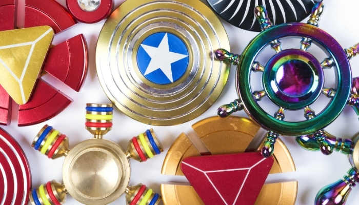 Bunch of Fidget Toys and Spinners