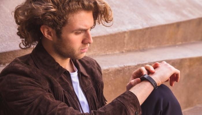Man Wearing A Vibrating Reminder Bracelet